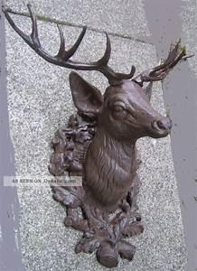 Deko Für Die Wand : hirschkopf aus gusseisen 45cm braun deko f r die wand f r innen au en 5 kg ~ Orissabook.com Haus und Dekorationen