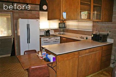 before after industrial yet cozy kitchen redo design