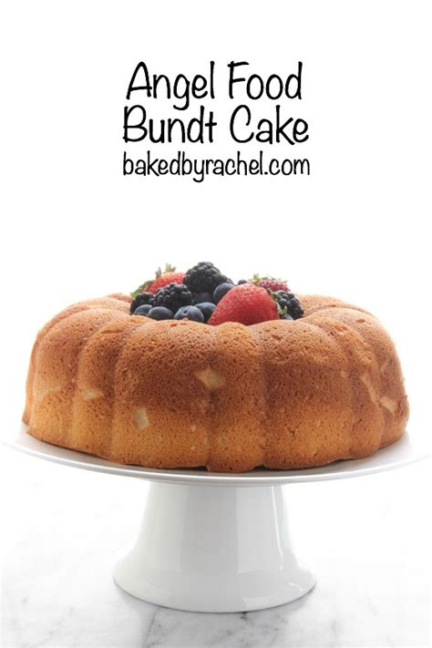 substitute angel food cake pan  bundt cake recipe
