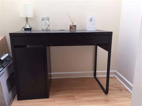 For Sale- Ikea Micke Black-brown Desk With Faux Leather