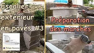 Construire Un Escalier Extérieur : construire un escalier ext rieur de jardin en pav 3 pr paration des marches youtube ~ Melissatoandfro.com Idées de Décoration