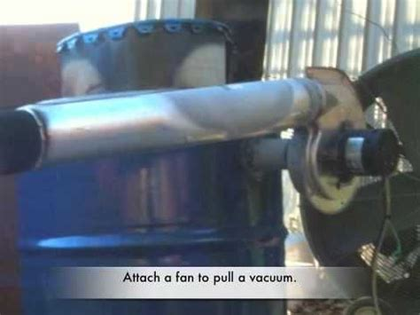 real plans   simple downdraft wood gas generator youtube