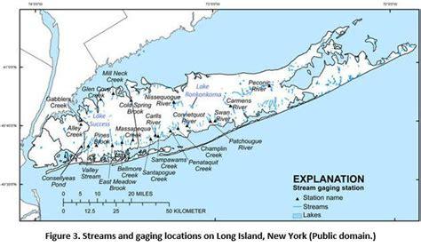 streams  gaging locations  long island  york