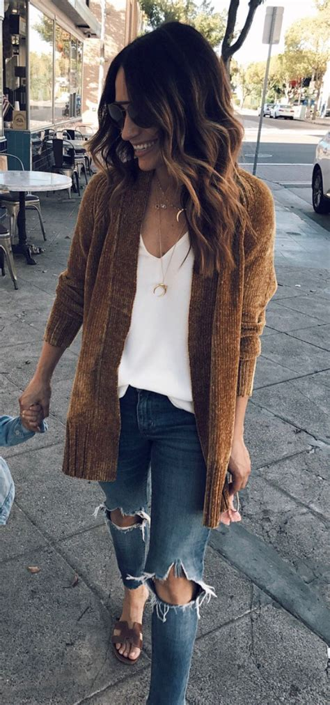 fall outfits brown cardigan fashion fall outfits