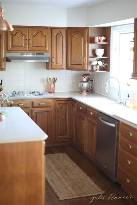 ideas update oak cabinets   drop  paint