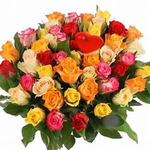 50 Rosen Im Mix Mit Gratiszugabe Ihrer Wahl Blumen