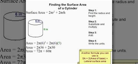 How To Find The Surface Area Of A Cylinder Easily « Math Wonderhowto