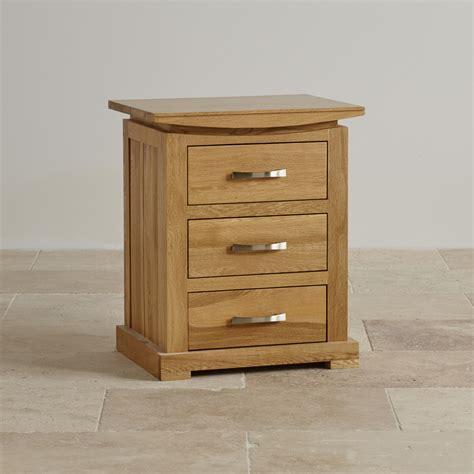 3 drawer bedside table in solid oak oak furniture land