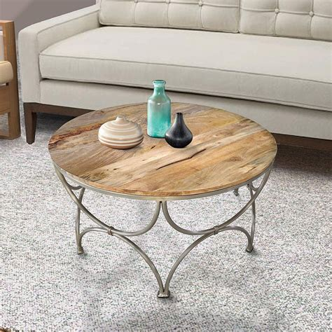 I've been searching for a small round coffee table for awhile. 100+ Beach Coffee Tables and Coastal Coffee Tables 2020 in 2020 | Coffee table, Solid wood ...