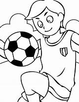 Football Coloring Pages English Printable Soccer sketch template