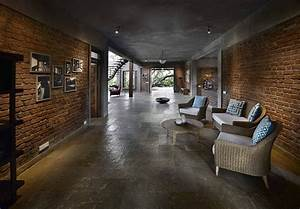 Indian Brick House With An Architectural Design Influenced By A Mango Trees Plantation