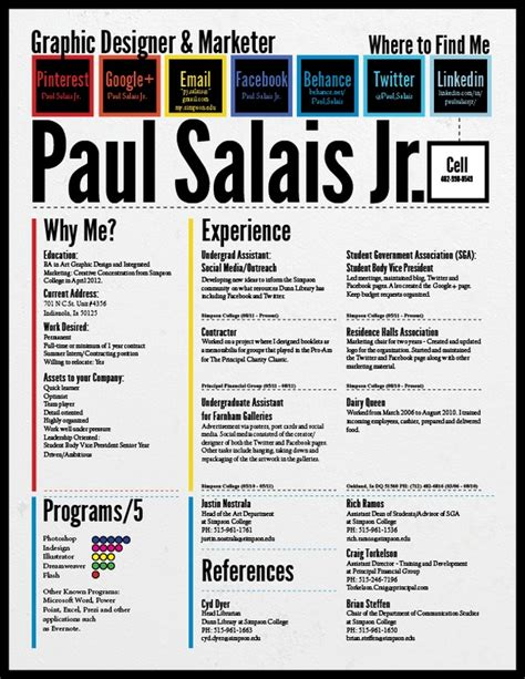 Great Marketing Resumes by Great Marketing Resume Creative Works Behance Typography And Marketing Resume