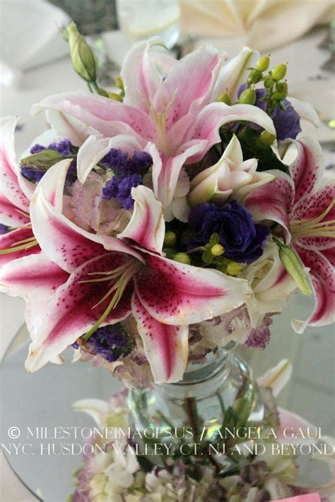 Centerpiece Stargazer Lilies At The Albany Country Club