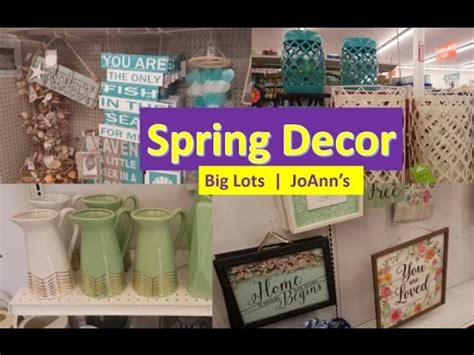 Spring Home Decor  Shop With Me (big Lots  Joann's