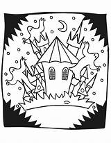 Haunted Coloring Halloween Castle Pages Mansion Spooky Printables Printable Drawing Print Printactivities Popular Coloringhome Hounted Getcoloringpages Getdrawings sketch template