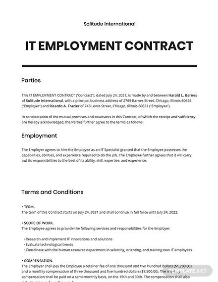 Physician Assistant Employment Contract Template - Word (DOC) | Google Docs | Apple (MAC) Pages
