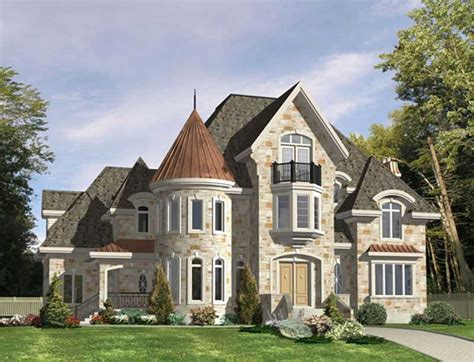 Luxury, Victorian, European House Plans
