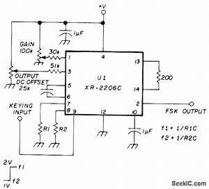 fsk generator basic circuit circuit diagram seekiccom With fsk filter circuit