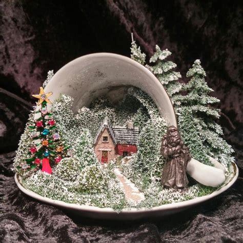 christmas teacup scene teacup scenes pinterest