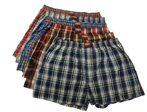 6 Men's 100 Cotton Assorted Plaid Boxer Shorts Underwear