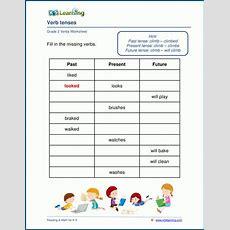Verb Tenses Worksheets For Grade 2  K5 Learning