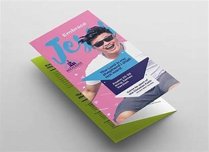 Tri Fold Template Brochure Easter Service Brandpacks