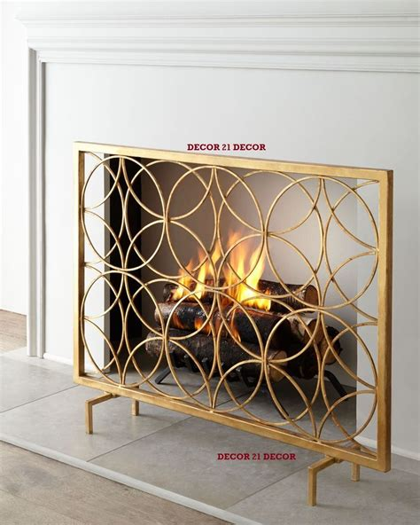 gold fireplace screen italian gold fireplace screen horchow ebay
