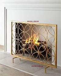 modern fireplace screens ITALIAN GOLD FIREPLACE SCREEN /HORCHOW | eBay