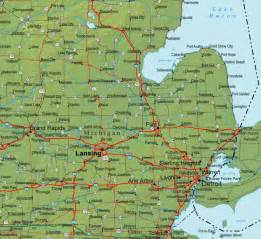 Southeast Michigan Cities Map