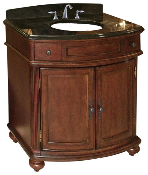 Distressed Bathroom Vanity 36 by Arlington 36 Quot Vanity Distressed Cherry Brown Granite