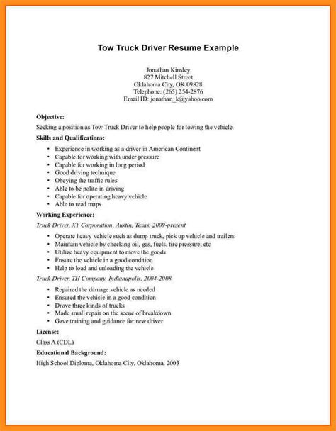class a driver resume ideas driver sle resumestruck