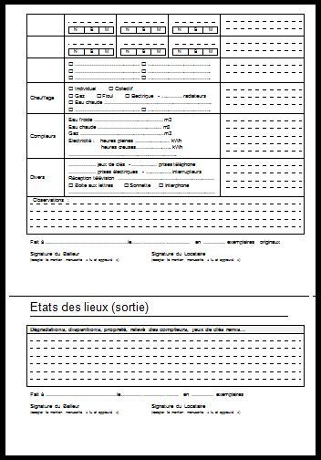 modele etat des lieux meublé gratuit format word etat des lieux mod 232 le gratuit a imprimer word et pdf