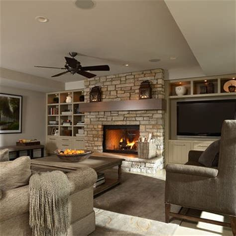 Decorating Ideas Next To Fireplace by Tv Next To Fireplace Design Ideas Pictures Remodel And