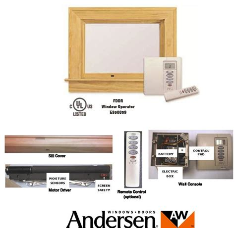 andersen electric operator  power assist technology shepley wood products