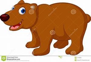 Cute Brown Bear Cartoon Royalty Free Stock Photo - Image ...
