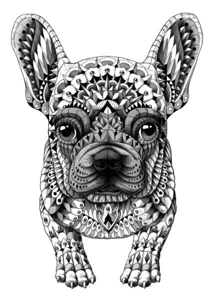 French bull dog tribal art | French bulldog art, Dog coloring page, Dog art
