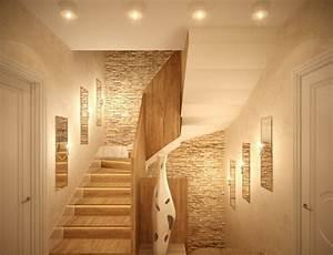 1001 beispiele fur treppenhaus gestalten 80 ideen als With balkon teppich mit tapete altes mauerwerk