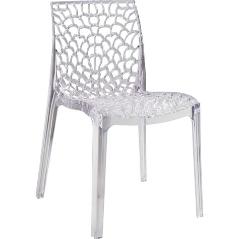 chaise de cuisine fly chaise de jardin en polycarbonate grafik transparent