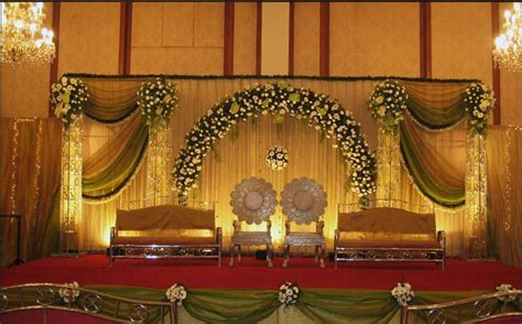 Indian Wedding Stage Decorations And