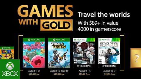 e xbox games xbox august 2017 with gold