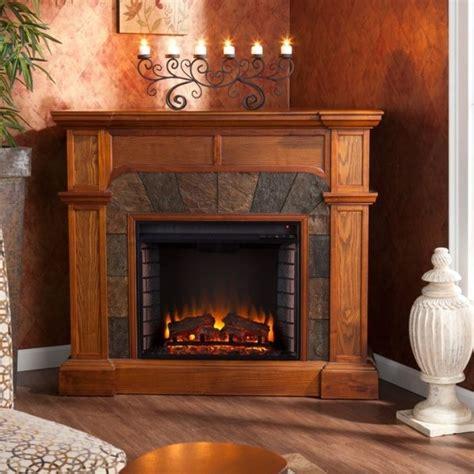 oak electric corner  flat fireplace mantle fireplaces