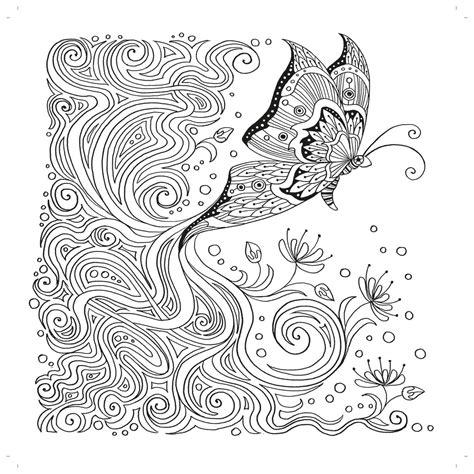 zencolor ausmalbuch mit wunderschoenen schmetterlingen und