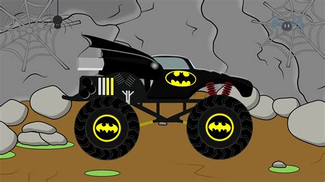 batman monster truck videos batman monster truck video demolisher for children by