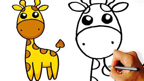 easy   draw cute cartoon giraffe art  kids