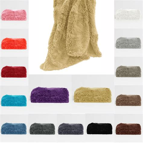 Throws Blankets For Sofas by Winter Summer Color Choice Hair Faux Fur Bed Sofa