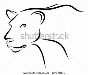 Image Gallery lioness outline tattoo