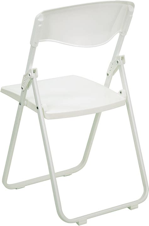 hercules commercial white plastic folding chair ships in