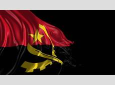 Stock Video Clip of Flag of Angola Beautiful 3d animation