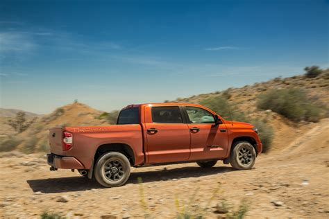 2015 Toyota Tundra Mpg by 2015 Toyota Tundra Trd Pro Rear Three Quarter In Motion
