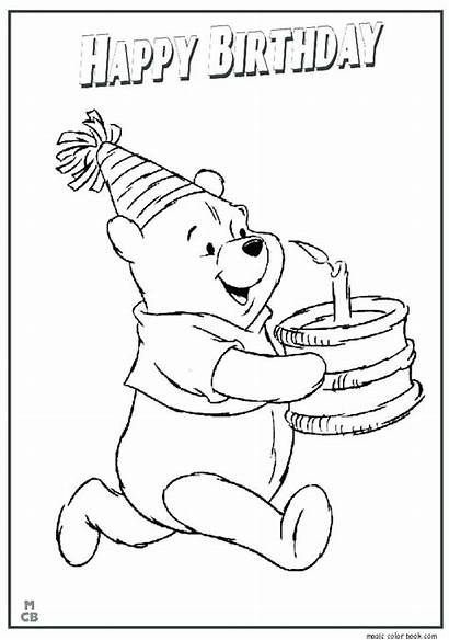 Birthday Card Happy Coloring Cards Pages Printable